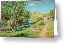 Summer Day By The Stream Greeting Card