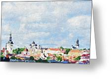 Summer Day In Tallinn Greeting Card