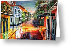 Summer Day On Royal Street Greeting Card