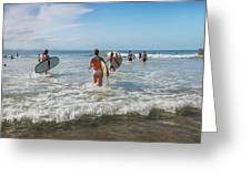 Summer Days Byron Waves Greeting Card