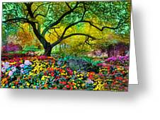 Summer Ends And Autumn Begins Greeting Card
