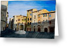 Summer Evening In San Gimignano Greeting Card