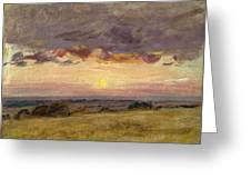 Summer Evening With Storm Clouds Greeting Card