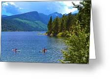 Summer Family Kayak Fun Greeting Card