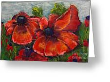 Summer Field Of Poppies Greeting Card by Vickie Scarlett-Fisher