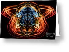10643 Summer Fire Mask 43 - Logi Greeting Card