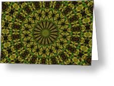 10696 Summer Fire Mask 54 Kaleidoscope 1 Greeting Card