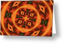 10697 Summer Fire Mask 54 Kaleidoscope 2 Greeting Card