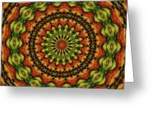 10698 Summer Fire Mask 54 Kaleidoscope 3 Greeting Card