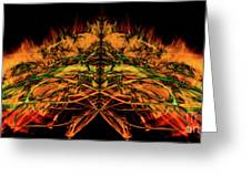 10657 Summer Fire Mask 57 - The Fire Bug Greeting Card