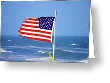 Summer Flag Greeting Card