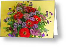 Summer Flower Bouquet Greeting Card