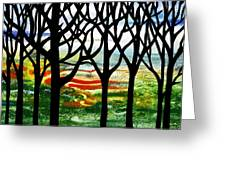 Summer Forest Abstract  Greeting Card