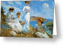 Summer Greeting Card by Frank Weston Benson