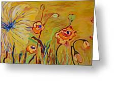 Summer Hibiscus Flower Greeting Card