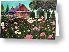 Summer House Greeting Card