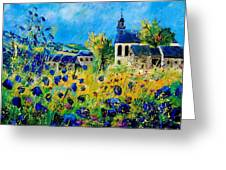 Summer In Foy Notre Dame  Greeting Card