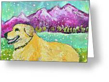 Summer In The Mountains With Summer Snow Greeting Card