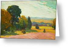 Summer Landscape By John William Beatty Greeting Card