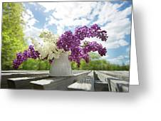 Summer Lilacs Greeting Card