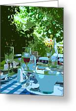 Summer Lunch Remembered Greeting Card