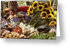 Summer Market In Provence Greeting Card