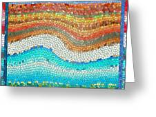 Summer Mosaic Greeting Card by Melissa A Benson