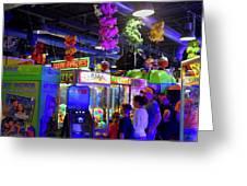 Summer Nights At The Arcade Greeting Card