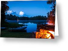 Summer Nights On The Pond Greeting Card