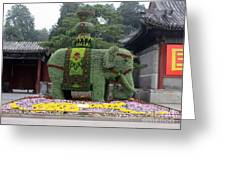 Summer Palace Elephant Greeting Card
