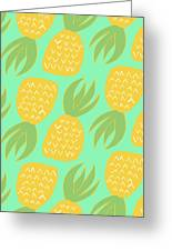 Summer Pineapples Greeting Card