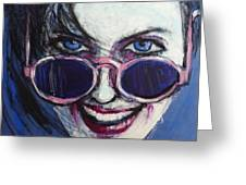 Summer - Portrait Of A Woman Greeting Card