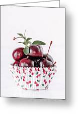 Summer Red Cherries Greeting Card