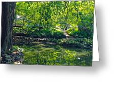 Summer Reflections At Lafayette Park Greeting Card