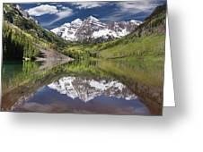 Maroon Bells Aspen Colorado Summer Reflections Greeting Card