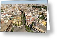 Summer Rooftops In Seville Spain Greeting Card