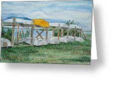 Summer Row Boats Greeting Card