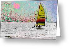 Summer Sailin Greeting Card