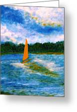 Summer Sailing Greeting Card