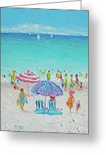 Summer Scene Diptych 1 Greeting Card