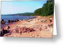 Summer Shores Of Lake Superior Greeting Card