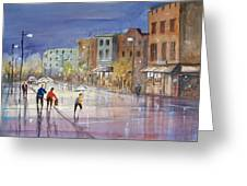 Summer Showers In Green Bay Greeting Card