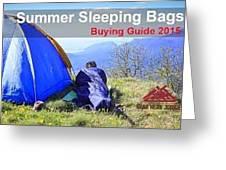Summer Sleeping Bags Greeting Card