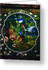 Summer Stained Glass Panel Greeting Card