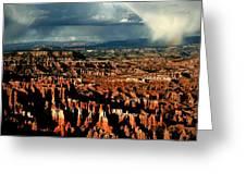 Summer Storm At Bryce Canyon National Park Greeting Card