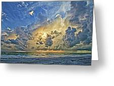 Summer Storms In The Gulf Greeting Card