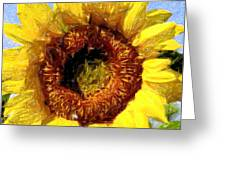 Summer Sunflower Greeting Card