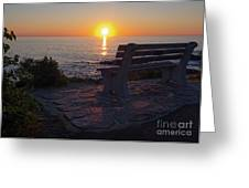 Summer Sunrise, Marginal Way, Ogunquit, Maine  -67904 Greeting Card