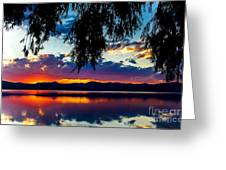 Sunset At Agency Lake, Oregon Greeting Card
