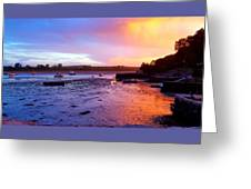 Summer Sunset At Low Tide Greeting Card